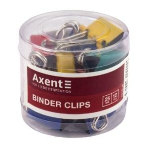 Биндер Axent 4410-A, 25 мм, 12 штук, ассорти цветов