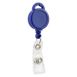 Кліп-рулетка для бейджа, синій, 4519-02-A
