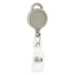 Кліп-рулетка для бейджа, сірий, 4519-03-A