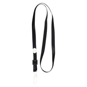 Шнурок для бейджа с карабином, черный, 4531-01-A