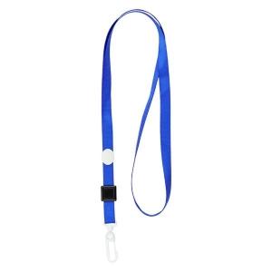 Шнурок для бейджа с карабином, синий, 4531-02-A