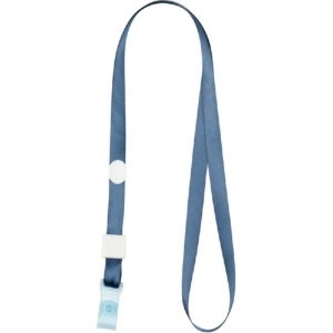 Шнурок для бейджа з силіконовим кліпом, димчастий синій 4551-15-A