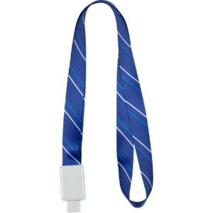 Шнурок для бейджа Office, с ретрактором, полосы, 4560-02-А