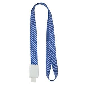 Шнурок для бейджа Office, з ретрактором, синя смуга, 4560-22-А