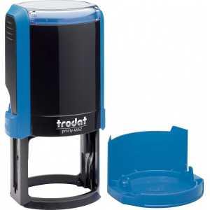 Оснастка для круглой печати Trodat 4642, синяя
