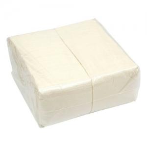 Салфетки 24х24см, 500шт. 1 слойные, белые Papero