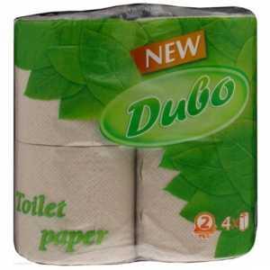 Бумага туалетная Диво макулатурная, 2 слоя, 4рул. серая