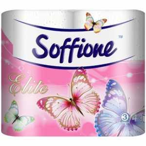 Бумага туалетная Soffione Elite, 3 слоя, 4рул. белая