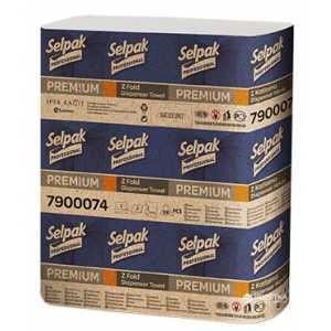 Полотенца бумажные Selpack Premium, 2 слоя 200шт.