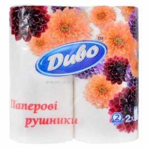 Полотенца бумажные Диво, 2 слоя 2шт.