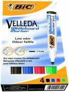 Набор: 4 маркера для досок BIC Velleda 1701