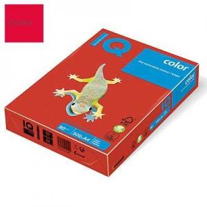 Бумага цветная IQ Color, А4/80, 500л. CO44, красный