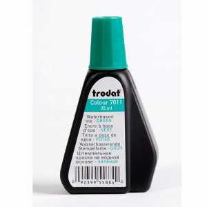Штемпельная краска Trodat 7011 28мл, зеленая