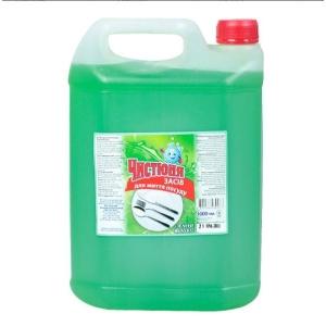 Средство для мытья посуды Чистюня 5л Яблоко