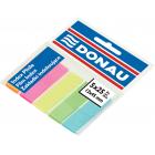 Закладки пластиковые с клейким слоем Donau (5 цветов x 25 шт.)