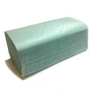 Полотенца бумажные , 1 слой 180шт. зеленые