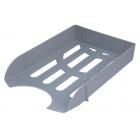 Лоток для бумаг горизонтальный Арника с прорезями, серый