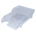 Лоток для бумаг с подставкой, прозрачный
