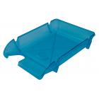 Лоток для бумаг Компакт горизонтальный, голубой