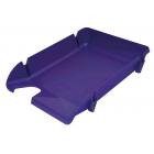 Лоток для бумаг Компакт горизонтальный, фиолетовый