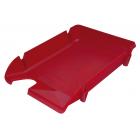 Лоток для бумаг Компакт горизонтальный, красный