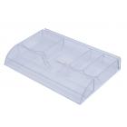 Лоток пластиковый для канцелярских мелочей, прозрачный