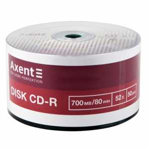 Диск Axent CD-R 700MB 52х 80min 50 шт.