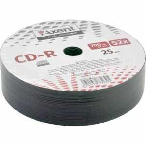 Диск Axent CD-R 700MB 52х 80min 25 шт.