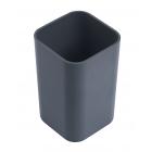 Стакан для ручек квадратный серый