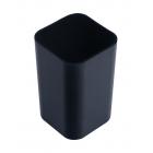 Стакан для ручок квадратний чорний