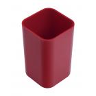 Стакан для ручек квадратный красный