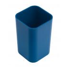 Стакан для ручек квадратный синий
