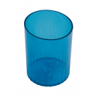 Стакан для ручек пластмассовый синий