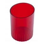 Стакан для ручек пластмассовый алый (81877)