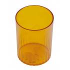 Стакан для ручек пластмассовый лимонный
