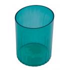 Стакан для ручек пластмассовый зеленый