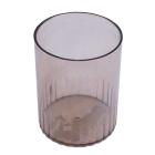 Стакан для ручек пластмассовый дымчатый (81880)