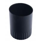 Стакан для ручек пластмассовый черный (81881)
