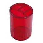 Стакан для ручок пластмасовий багряний (81977)
