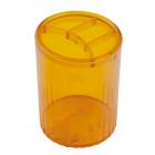 Стакан для ручок пластмасовий лимонний (81978)