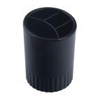 Стакан для ручок пластмасовий чорний (81981)
