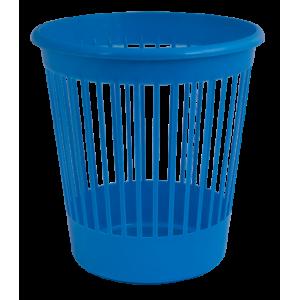 Корзина для бумаг пластмассовая 10л, синяя