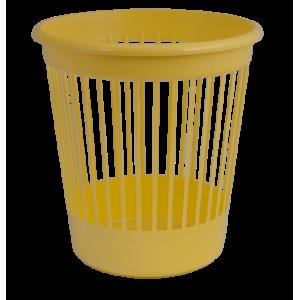 Корзина для бумаг пластмассовая 10л, желтая