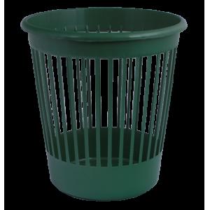 Корзина для бумаг пластмассовая 10л, зеленая