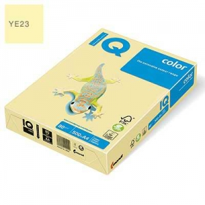 Бумага цветная IQ Color, А4/80, 500л. YE23, желтый