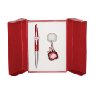 Набор подарочный Langres Vial: ручка шариковая+брелок, красный