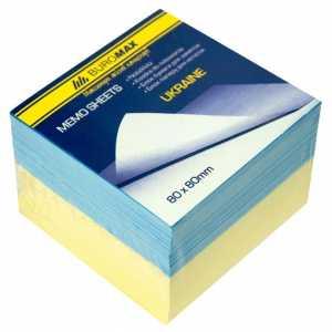 Блок бумаги для записей Украина 80х80х60мм