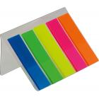 Закладки пластиковые с клейким слоем BuroMax (5 цветов x 25 шт.)