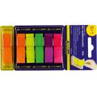 Закладки пластиковые с клейким слоем BuroMax (6 цветов x 40 шт.)
