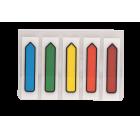 Закладки пластиковые с клейким слоем BuroMax (5 цветов x 20 шт.)